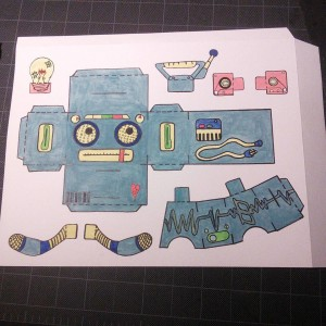 Finally finished with the last one! Ready to be copied and assembled! #Popbloks #Boombot #boombox #robots #papertoys #madebyhand #watercolorpainting #art #artwork #fun #colorful #toys #handmade #nocomputer #cassettetape #drawing #painting #creative