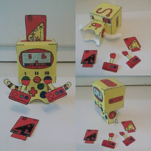 Different views #8bit #robot #popbloks #handmade #paper #toys #colorful #fun #creative #oldschoolvideogames #videogames #gameboy #art #artwork #madebyhand #nocomputer #drawing #painting #watercolor #paint