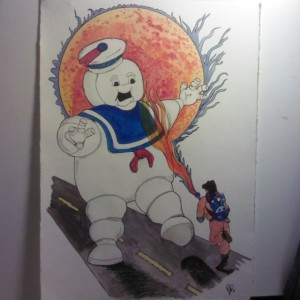 Mr. Stay Puft! All finished up