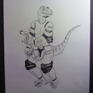 More for my this is a dinosaur/human hybrid called a saurtrooper