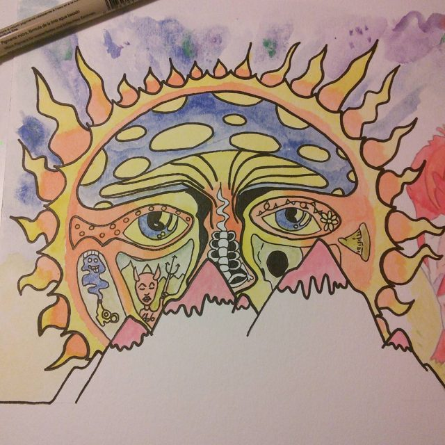 Coming along drawing painting colorful everythingunderthesun music handdrawn smoketwojoints 40oztofreedomhellip
